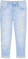 Jessica Simpson Cropped Embroidered Daisy Skinny Jeans, Big Girls (7-16)