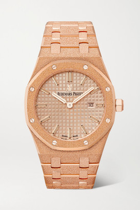 Audemars Piguet Royal Oak 33mm 18-karat Frosted Pink Gold Watch - Rose gold