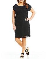 Lauren Ralph Lauren Plus Embroidered Tulle Dress