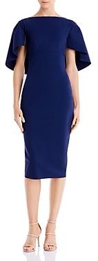 Chiara Boni Aniela Cape Scuba Midi Dress - 100% Exclusive