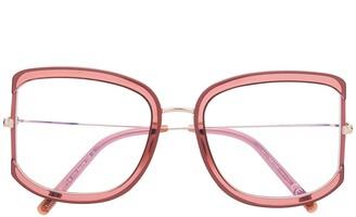 Tom Ford Square-Frame Oversized Glasses