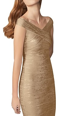 Herve Leger Foil Knit Bodycon Dress