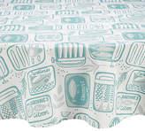 John Lewis Sardines Wipe Clean Round Tablecloth, Dia.180cm
