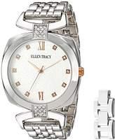 Ellen Tracy Women's Quartz Metal and Alloy Watch, Color:White (Model: ET5224SLR)