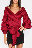 House of Atelier Billow Sleeve Wrap Top