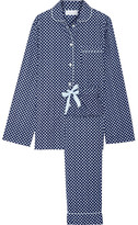 Three J NYC Jamie Printed Cotton-poplin Pajama Set - Navy