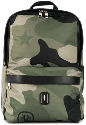 Neil Barrett Logo Patch Backpack