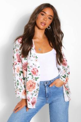 boohoo Rose Floral Kimono