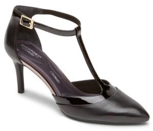 Rockport Women's Total Motion 75MM Layer T-Strap Pumps Women's Shoes