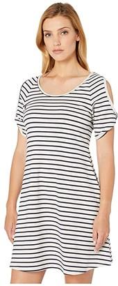 Karen Kane Cold Shoulder Dress (Stripe) Women's Clothing