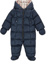 Burberry Skylar down padded snowsuit 3-24 months