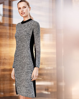 Neiman Marcus Contour Marled Cashmere Dress