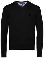 Tommy Hilfiger Pacific V-neck Cotton Jumper, New Black
