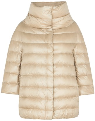 Herno Icon Gold Quilted Shell Jacket