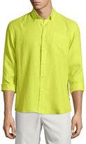 Vilebrequin Caroubier Linen Long-Sleeve Shirt, Light Blue