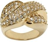Pavé crossover ring - Gold