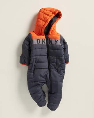 DKNY Newborn Boys) Color Block Logo Hooded Pram