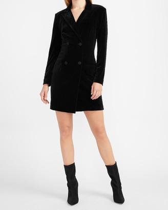 Express Velvet Double Breasted Blazer Dress