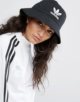 adidas Logo Bucket Hat In Black