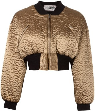Jean Paul Gaultier Pre-Owned cropped bomber jacket