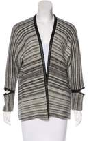 Yigal Azrouel Leather-Trimmed Cardigan