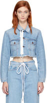 Off-White Blue Cropped Denim Jacket