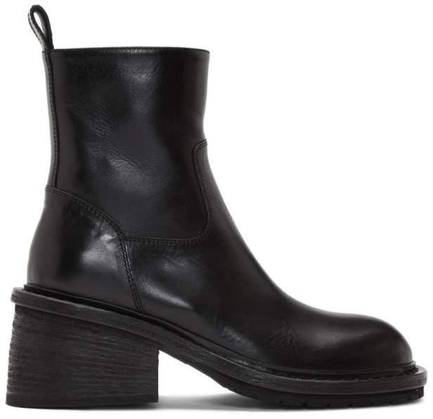 Ann Demeulemeester Black Lug Sole Boot