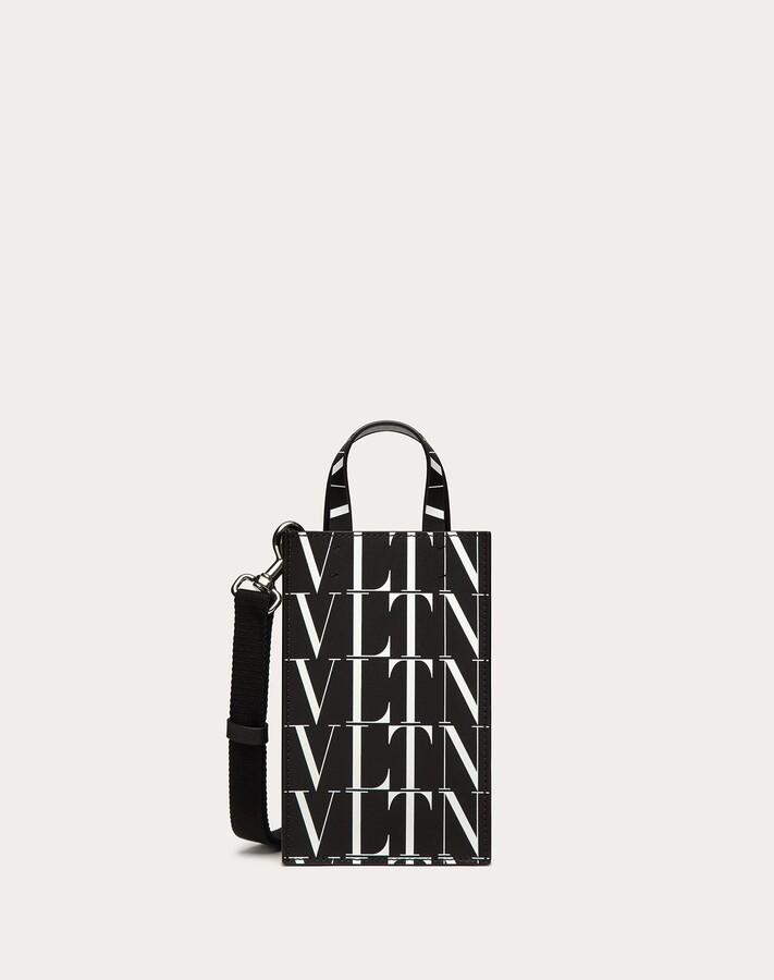 Thumbnail for your product : Valentino Garavani Uomo Vltn Times Mini Leather Tote Bag Man Black/white 100% Pelle Bovina - Bos Taurus OneSize