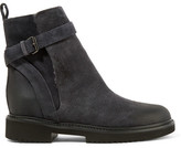 Vince Claudia Shearling-lined Suede Ankle Boots - Dark gray
