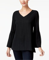 Style&Co. Style & Co Petite Metallic Bell-Sleeve Top, Created for Macy's