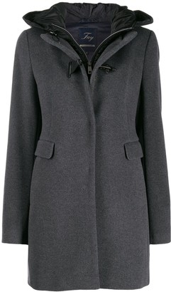 Fay hooded duffle coat