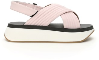 Marni Sandals Criss-Cross Slingback Platform Sandals