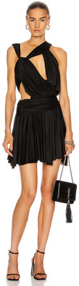 Redemption Asymmetrical Mini Dress in Black | FWRD