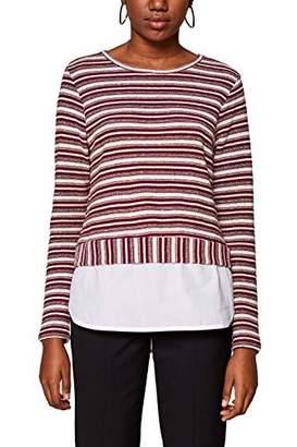 Esprit edc by Women's 128cc1k017 Long Sleeve Top, Bordeaux Red 600, X-Small
