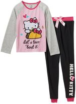 "Hello Kitty Girls 4-12 Let's Taco About It"" Pajama Set"