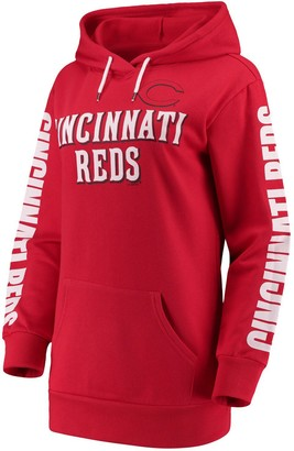 G Iii Women's G-III 4Her by Carl Banks Red Cincinnati Reds Extra Innings Pullover Hoodie