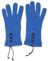 Les Copains Lace-Up Knit Gloves