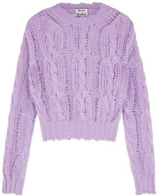 Acne Studios Lilac Open-knit Jumper