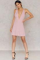 Toby Heart Ginger Plunging Neck Mini Dress