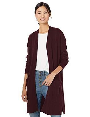 Goodthreads Wool Blend Jersey Stitch Longline Cardigan SweaterMedium