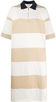 Sunnei Oversized Striped Polo Shirt Dress