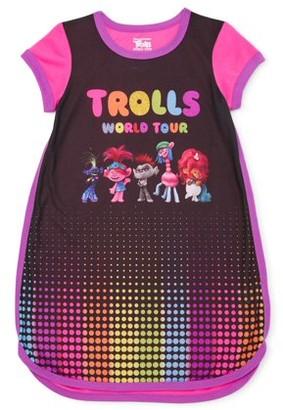 Trolls Girls Exclusive 4-12 Short Sleeve Pajama Nightgown