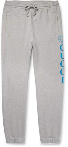 Gucci Tapered Logo-Print Loopback Cotton-Jersey Sweatpants