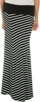 Mitered Stripe Knit Skirt