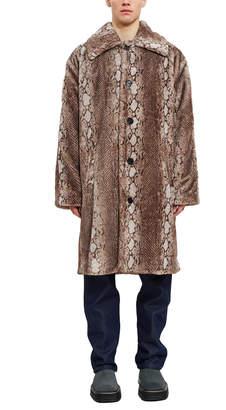 Fung Lan And Co. Snake Faux Fur Coat