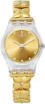 Swatch Women's Swiss Golden Keeper Gold-Tone Bracelet Watch 25mm LK358G