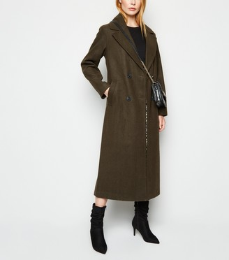 New Look Double Breasted Maxi Coat