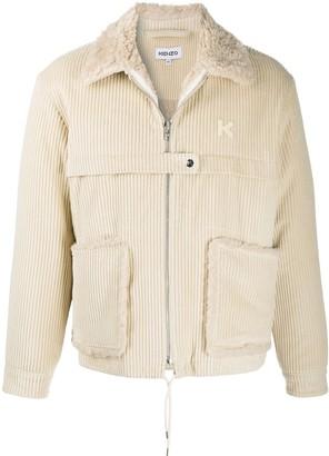Kenzo Fur-Lined Corduroy Jacket