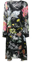 Preen by Thornton Bregazzi Floral print asymmetrical dress - women - Silk - XS