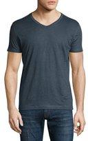 Majestic Paris for Neiman Marcus Short-Sleeve V-Neck T-Shirt, Navy